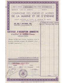 Cie des Forges et Aciéries de la Marine et de St-Etienne
