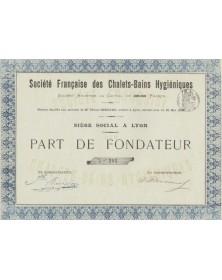 Sté Française des Chalets-Bains Hygiéniques
