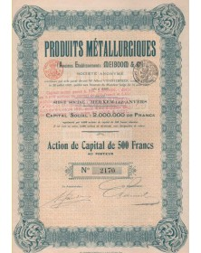 Produits Métallurgiques (Anciens Etablissements Meiboom & Cie)