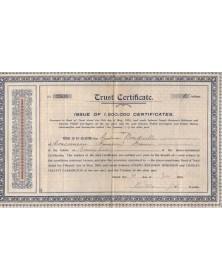 Trust Certificate from Joseph Benjamin Robinson