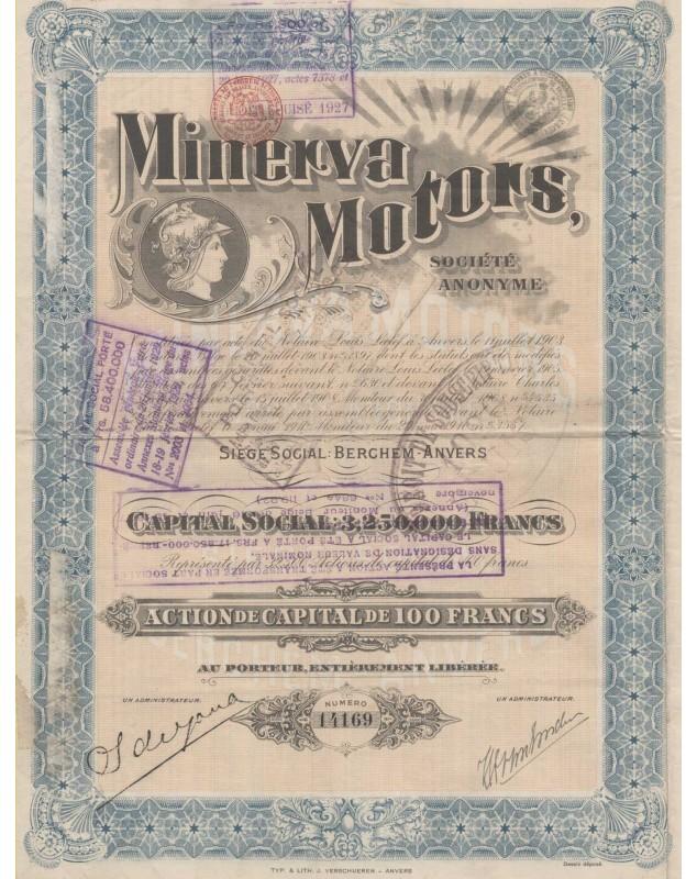 Minerva Motors société anonyme Berchem Anvers
