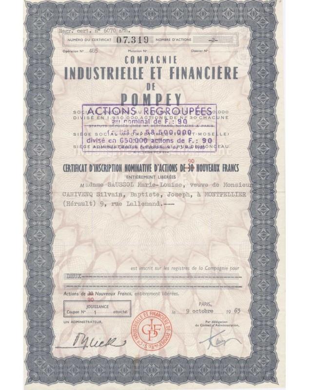 Cie Industrielle et Financière de Pompey