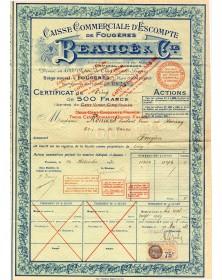 Caisse Commerciale d'Escompte de Fougères Beaucé & Cie