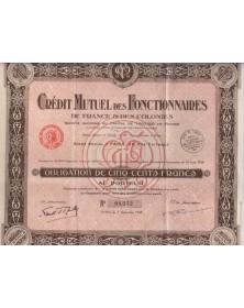 Crédit Mutuel des Fonctionnaires de France & des Colonies