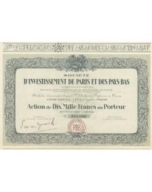 Sté d'Investissement de Paris et des Pays-Bas (PARIBAS)