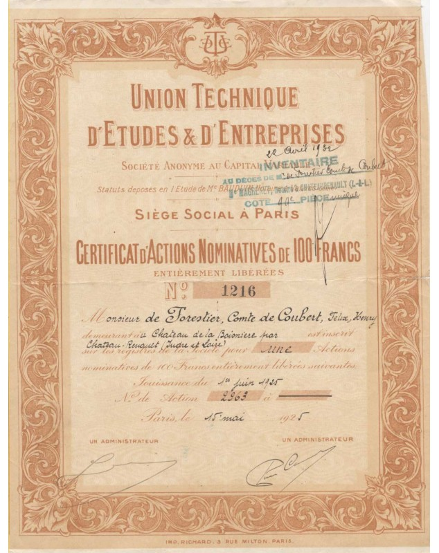 Union Technique d'Etudes & d'Entreprises