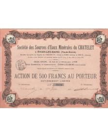 Mineral Waters Sté des Sources d'Eaux Minérales du Chatelet à Evian-Les-Bains