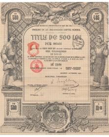 Datoria Publica a Romaniei  4,5% de 500 Lei 4,5% - Bucarest 1913