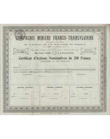 Cie Minière Franco-Transylvaine