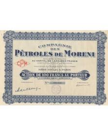 Compagnie des Pétroles de Moreni. 1932
