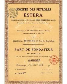 Sté des Pétroles Estera