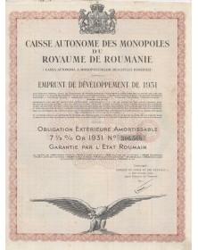 Caisse des Monopoles du Royaume  de Roumanie