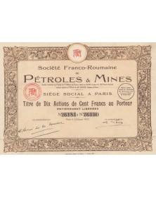 Sté Franco-Roumaine de Pétroles & Mines
