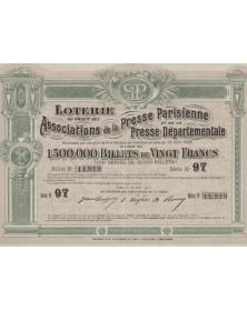 Loterie au profit des Associations de la Presse Parisienne et Départementale