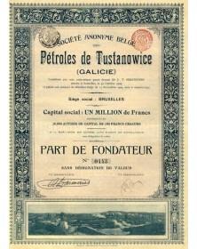 S.A. Belge des Pétroles de Tustanowice (Galicie, Ukraine)