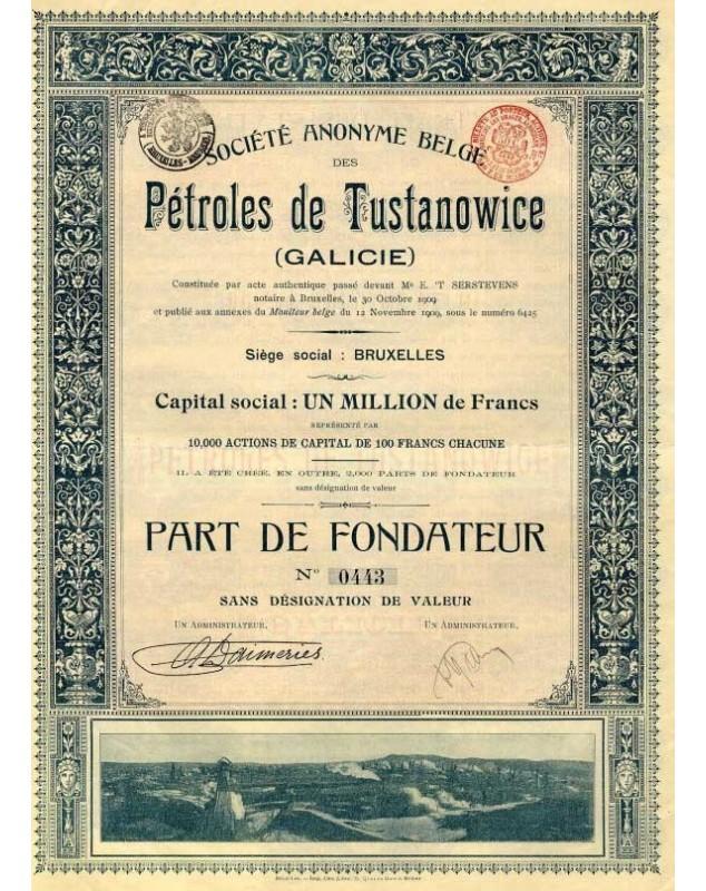 Sté Belge des Pétroles de Tustanowice (Galicie)