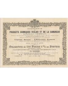 Cie des Produits Chimiques d'Alais et de la Camargue, Anc. Sté A.R. Péchiney & Cie