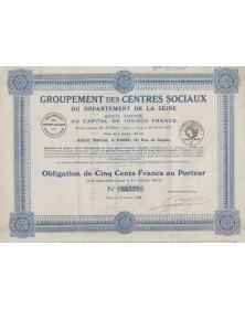 Groupement des Centres Sociaux du Département de la Seine