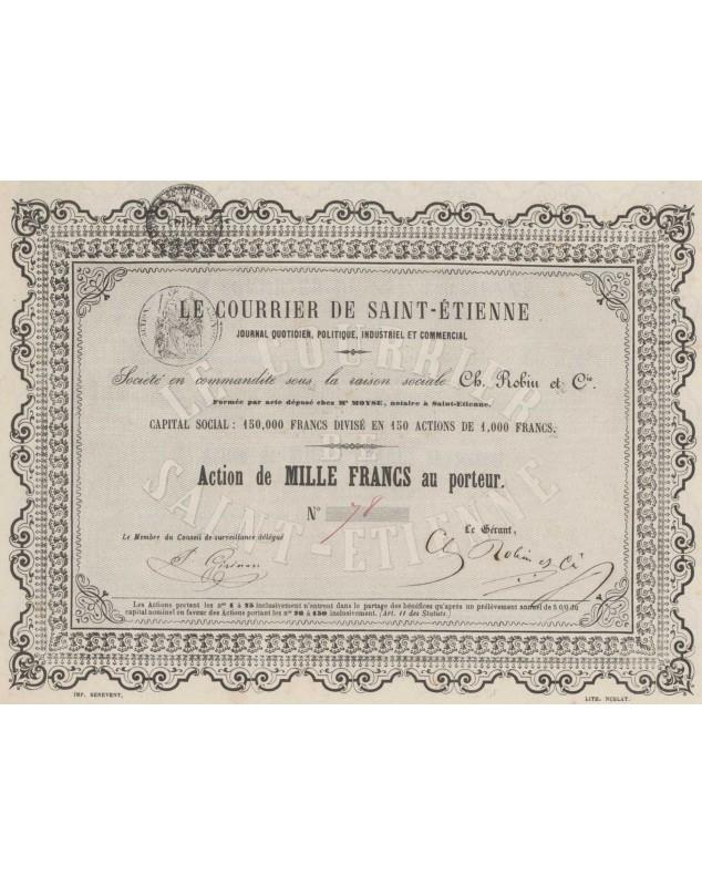 Le Courrier de Saint-Etienne, Ch. Robin et Cie