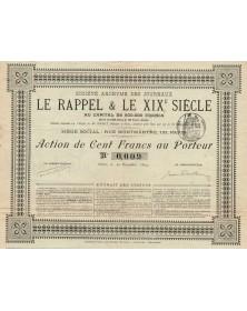S.A. des Journaux Le Rappel & Le XIXè Siècle