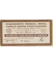 Ets Thermaux, Hotels, Casino et Grottes d'Ussat-les-Bains