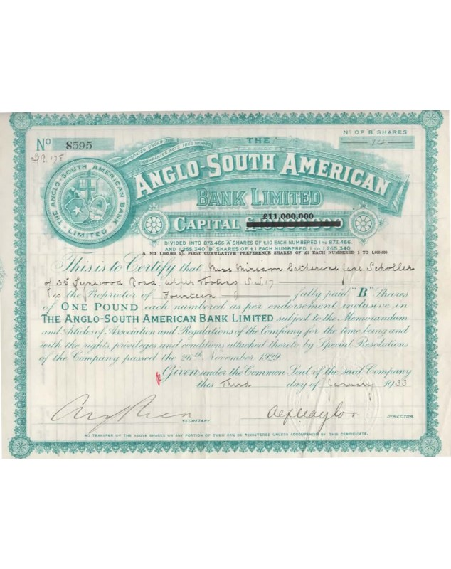 The Anglo-South American Bank Ltd
