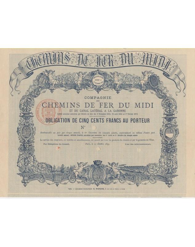 Railroads/Lines Cie des Chemins de Fer du Midi et du Canal Latéral à la Garonne