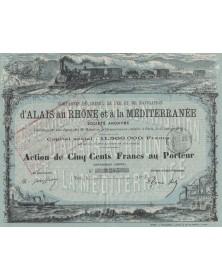 Cie du Chemin de Fer et de Navigation d'Alais au Rhône à la Méditerranée