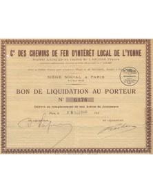 Cie des Chemins de Fer d'Intérêt Local de l'Yonne
