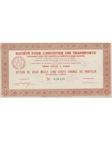 Sté Pour l'Industrie des Transports (Anc. Sté des Transports en Commun de la Région Parisienne)