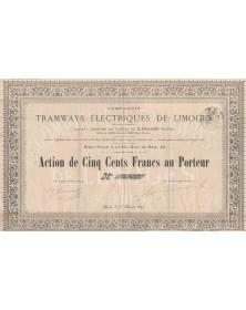 Cie des Tramways Electriques de Limoges