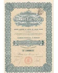Cie des Tramways  Electriques de Saint-Etienne