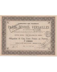 Cie des Tramways de Paris, Sèvres, Versailles