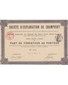 Sté d'Exploration de Champvert