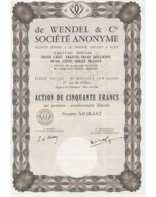Sté de Wendel & Cie