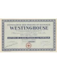 Cie des Freins Westinghouse