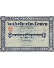 Cie Financière d'Electricité