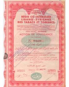 Sté de Régie Co-Intéressée Libano-Syrienne des Tabacs et Tombacs