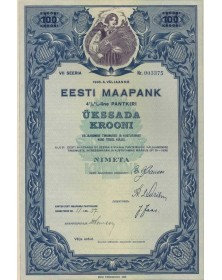 EESTI MAAPANK - BANQUE D'ESTONIE
