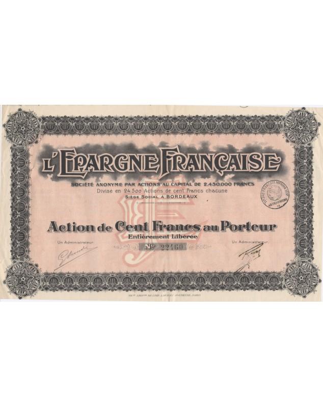 L'Epargne Française
