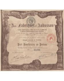 Aux Fabriques d'Aubusson - Anciens Ets Croc & Jorrand et Anciens Ets Frédéric Danton