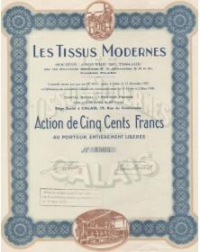 Les Tissus Modernes, S.A. de Tissage par les Nouvelles Machines N.P., Procédés Pilard