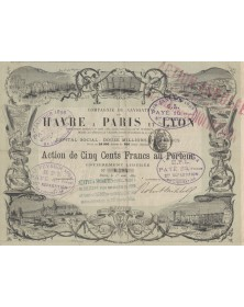 Cie de Navigation du Havre à Paris et Lyon