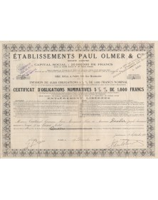 Ets Paul Olmer & Cie