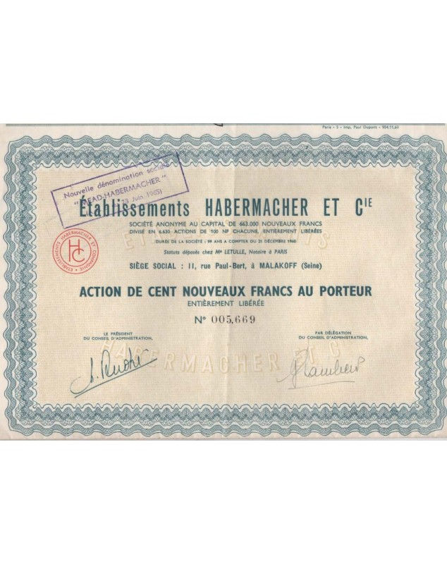 Ets Habermacher et Cie