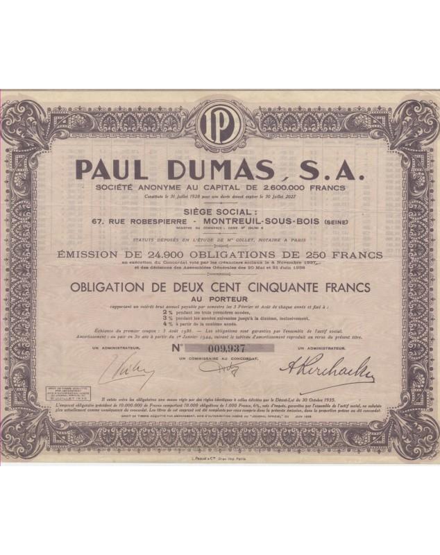 Paul DUMAS SA