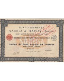 Ets Samga & Bavox Réunis