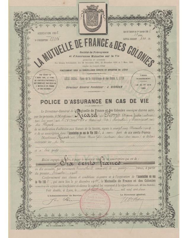 La Mutuelle de France & des Colonies