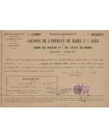 Coupons De L'Emprunt De Bahia 5% 1888