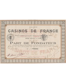 Sté des Casinos de France